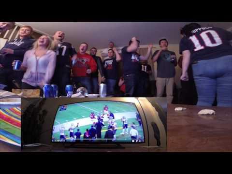 Patriots vs Falcons fans reactions.