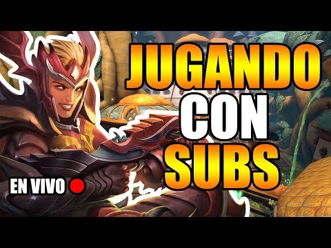 Paladins | JUGANDO CUSTOMS CON SUBS EN VIVO + SORTEO? | Gabbonet