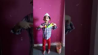 Fancy dress  becoming carpenter by cute  shriya
