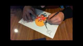 "speed drawing de sam ""bigotes"""