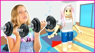 WORKING OUT in ROBLOX