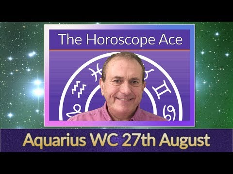 Aquarius Weekly Horoscope from 27th August - 3rd September
