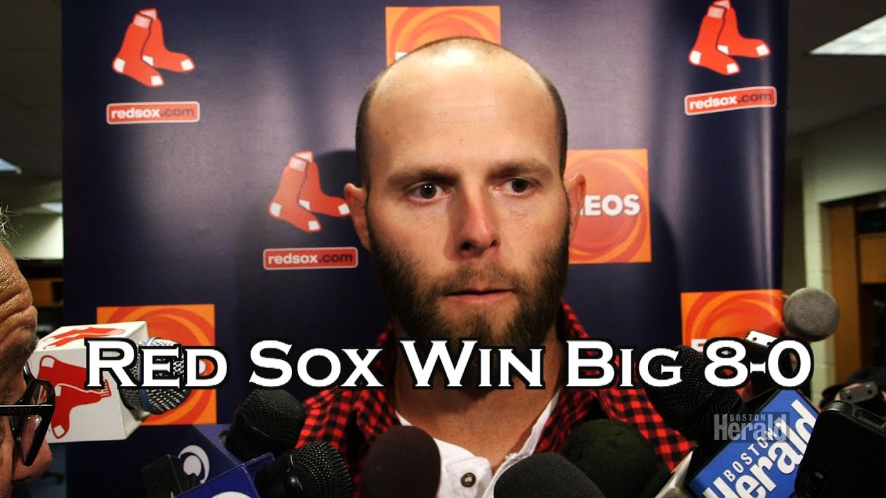 Dustin Pedroia Leads Boston Red Sox past  Phillies 8-0