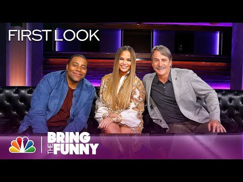 Chrissy Teigen can't stop laughing in exclusive Bring the Funny preview