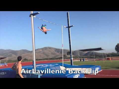 Renaud Lavillenie -- Back-Flip Pole Vault