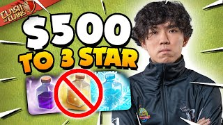 I Challenged the Worlds Best Player to 3 Star with No Spells (Clash of Clans)