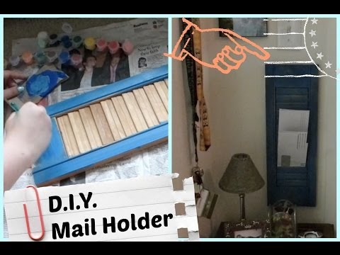 D.I.Y. Shutter Mail Holder!