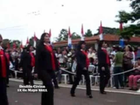Desfile civico por Bicentenario - Ayolas Paraguay - 2011 - 5ta parte