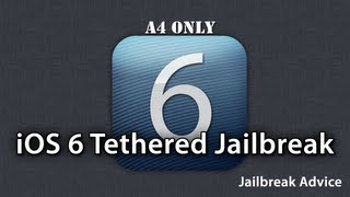 How To Jailbreak iOS 6 On A4 Devices And Below Install Cydia Tethered Jailbreak