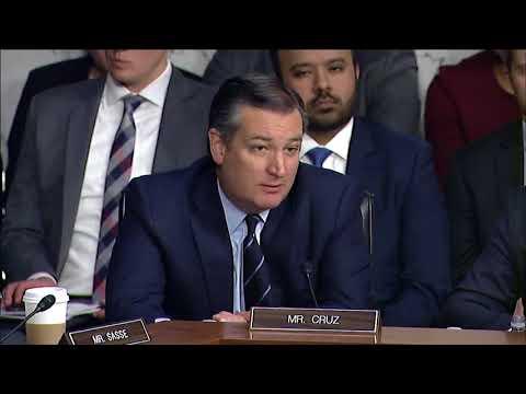 Sen. Cruz Questions AG Sessions at Judiciary Hearing- October 18, 2017