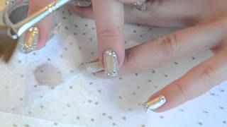 Nail art de fête bling bling Thumbnail