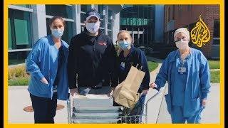 🇺🇸مطعم بولاية نيوجيرسي يقدم الطعام مجانا للعاملين في مكافحة فيروس #كورونا