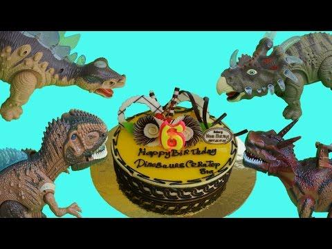 Super for kid: HAPPY BIRTHDAY DINOSAURS CERATOPSIA !! Dinosaurs kill spider,scorpion,ladybug...?
