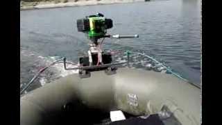 Самодельный лодочный мотор из триммера