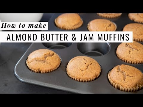 Almond Butter and Jam Muffins // Simple Green Meals