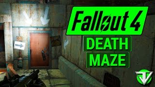 FALLOUT 4: Parking Garage KILLER MAZE OF DEATH! (SCARY Locations in Fallout 4!)