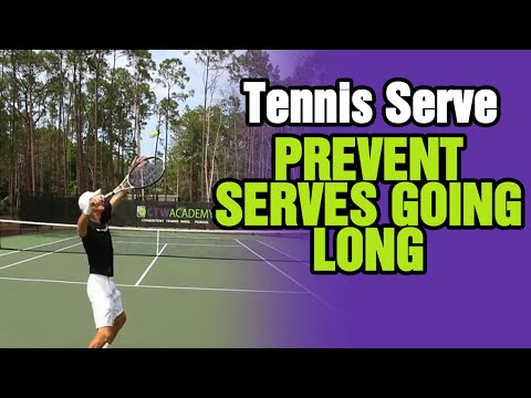 Tennis Serve Tips - How To Prevent Hitting First Serves Going Long
