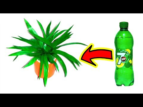 How to make Grass with plastic bottle Best out of waste plastic bottle craft ideas easy
