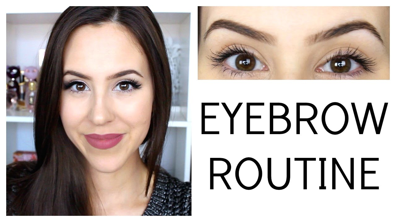 My Eyebrow Routine 2014 Beauty With Emily Fox Youtube