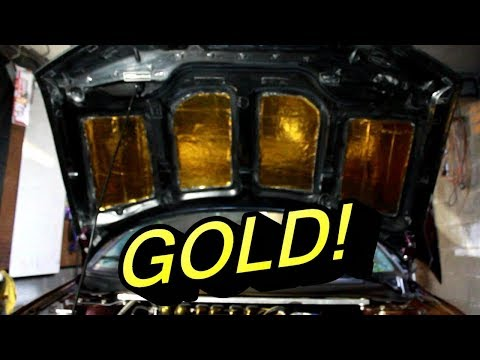 IT'S GOLD.. Heat Shield Tape Install and Review