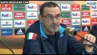 VIDEO 23 MINUTI NAPOLIMAGAZINE.COM - Sarri e Thorup dopo Napoli-Midtjylland 5-0