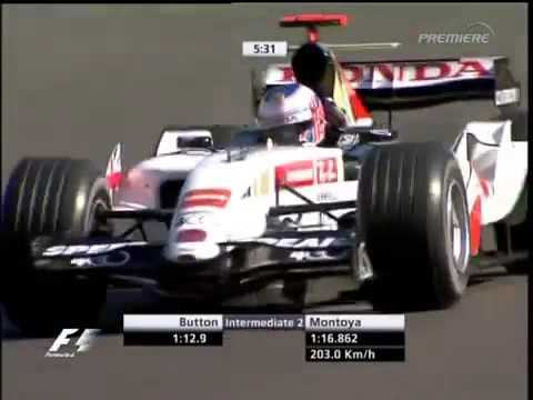 F1 Spa 2005 FP4   Jenson Button Lap
