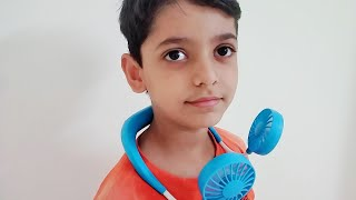 Portable Neck Fan | unboxing and review | shikha sehrawat