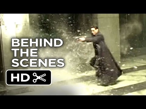 The Matrix Behind The Scenes - Shooting (1999)  - Keanu Reev