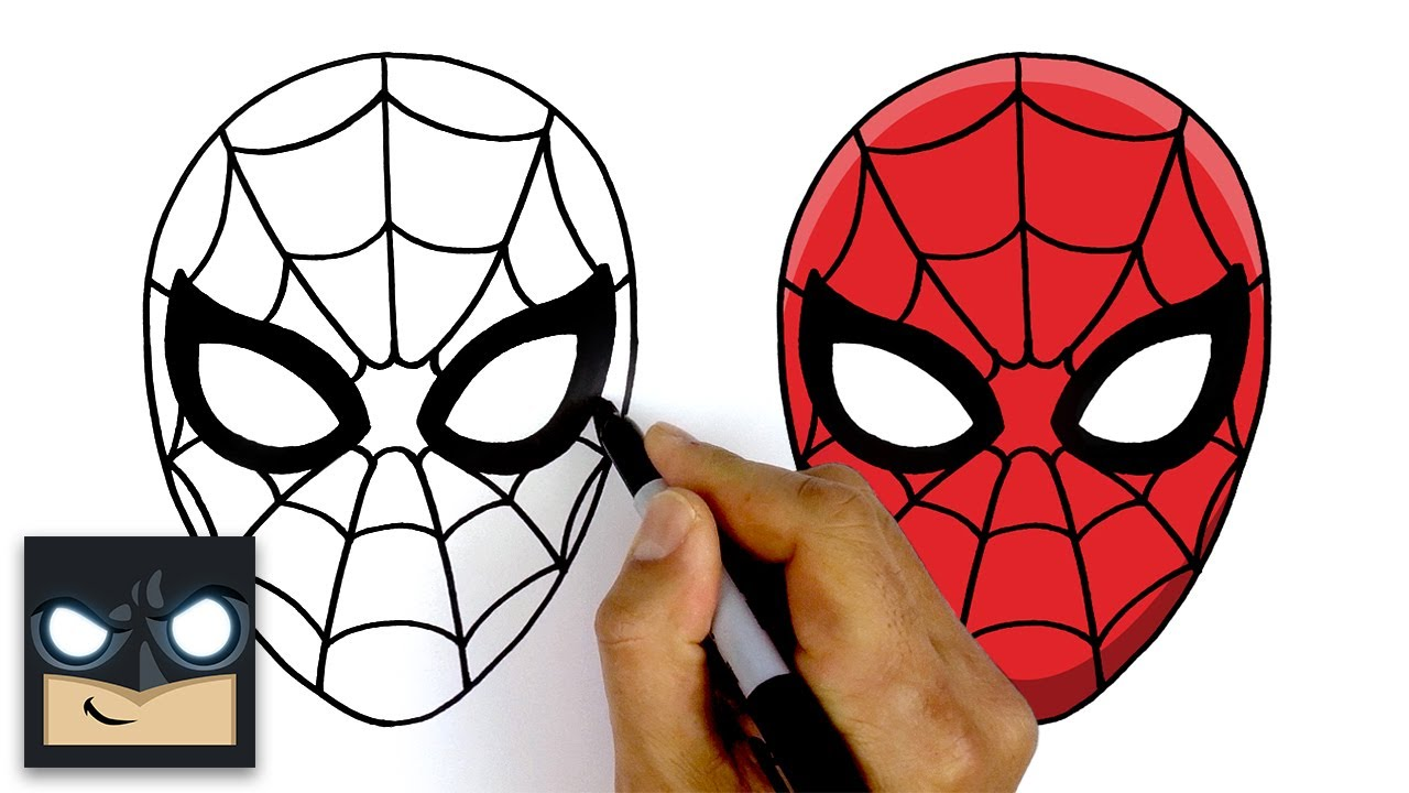 How To Draw Spider Man Step By Step Tutorial Youtube