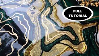 Geode Resin Art FULL TUTORIAL - Malachite Druzy by DiankaPours