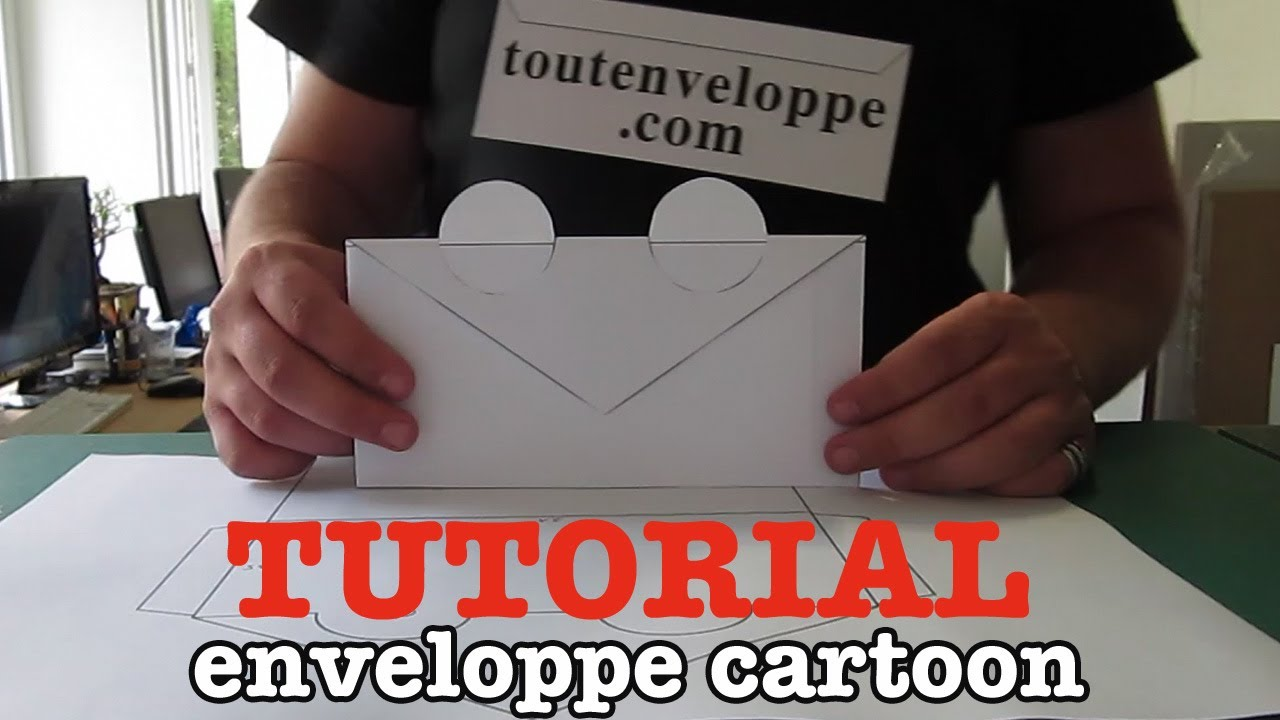 comment faire une enveloppe en papier cartoon youtube. Black Bedroom Furniture Sets. Home Design Ideas