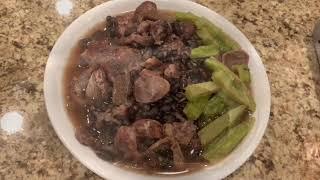 Instant Pot Pork Legs and Black Beans