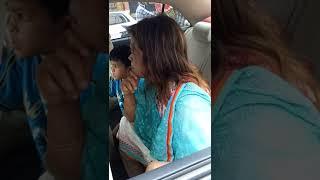 She threats Bagladeshi traffic surgeon  police -Its government car -(part-2)  Dhaka 25-09-18