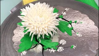 Cách bắt hoa Cúc Nhật bằng kem topping ( Thầy Nam hướng dẫn)