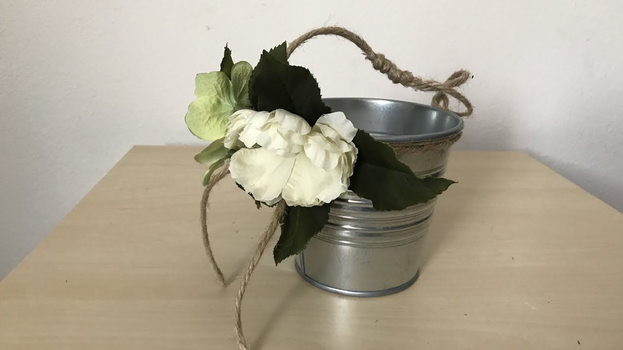 Diy Rustic Flower Girl Basket Very Easy Youtube