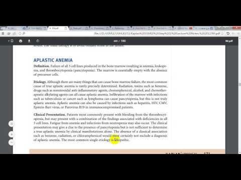 Medicine - Hematology - Aplastic Anemia