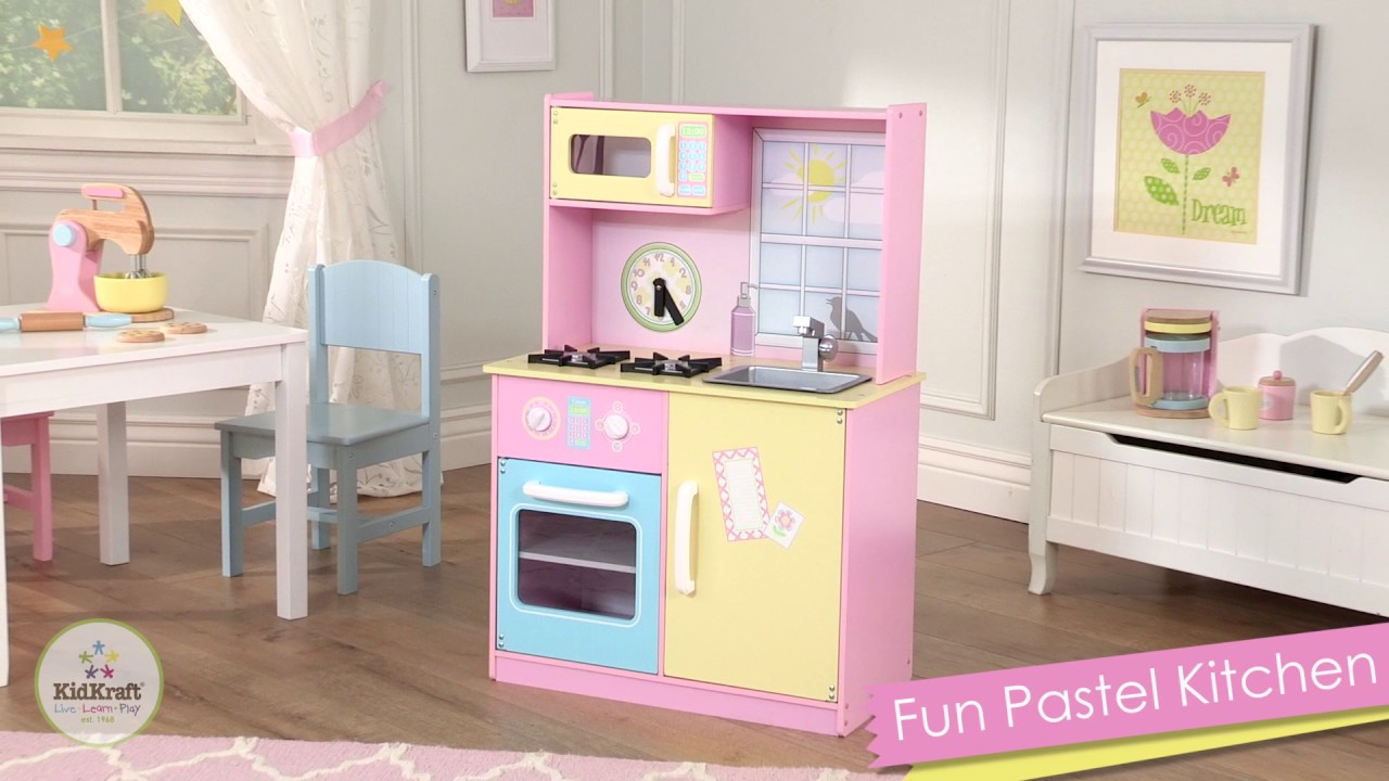 KidKraft   Fun Pastel Play Kitchen