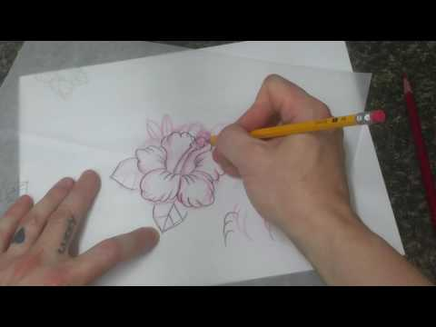 Tattoo Art Nerd - Anyone can draw : Tattoo style tropical flower Hibiscus