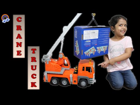 Learn about Cranes | Cranes for kids | Crane Truck Toy | Crane truck working | Construction Vehicles