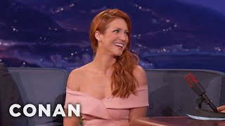 "Brittany Snow Shattered Her Rib On The Set Of ""Bushwick""  - CONAN on TBS"