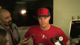 Jay Bruce postgame interview - 2017 ALDS Game 2