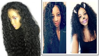 natural curly human hair lace wig pre plucked hairline|osolovely hair
