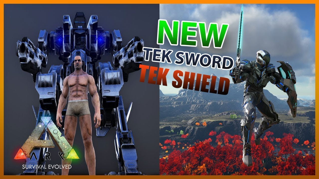 Superior TEK SWORD, TEK SHIELD AND ARMOR MECH   ARK Survival Evolved
