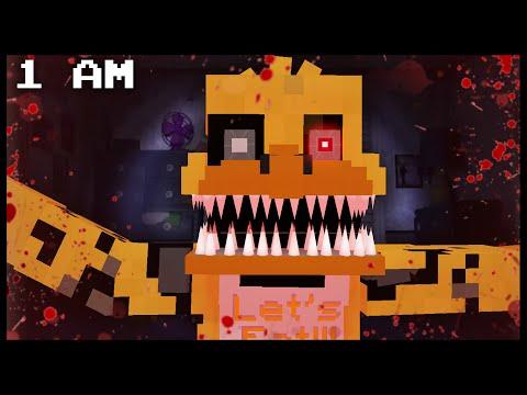 Minecraft FNAF - Nightmare Chica | 1 AM (FNAF Minecraft Roleplay)