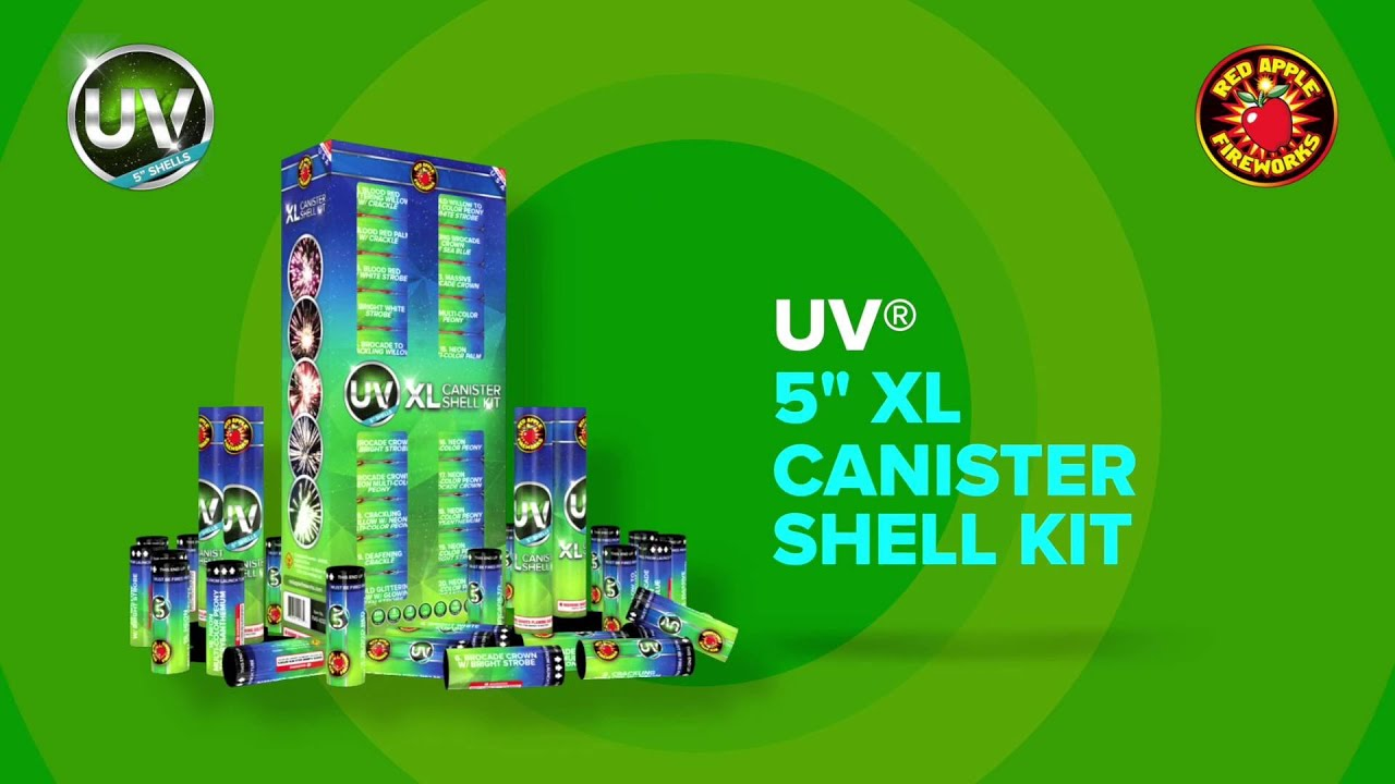 UV XL Canister Shell Kit by Red Apple Fireworks