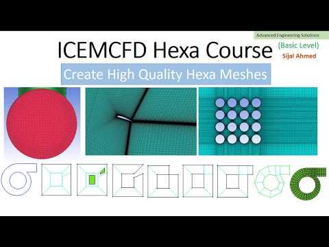 Hemisphere Hexa mesh in ICEM CFD by Advanced Engineering