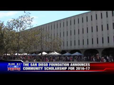 The San Diego Foundation Announces Community Scholarships- Live on KUSI