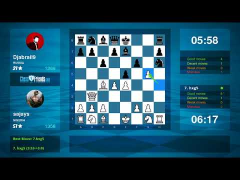 Chess Game Analysis: sajays - Djabrail9 : 1-0 (By ChessFriends.com)