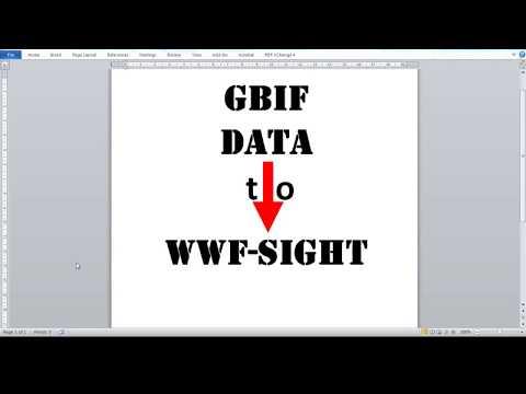 GBIF DATA TO WWF SIGHT