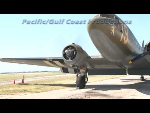 DC 3/C 47 Engine Start and Runup - Vintage Flying Museum, Fort Worth Texas